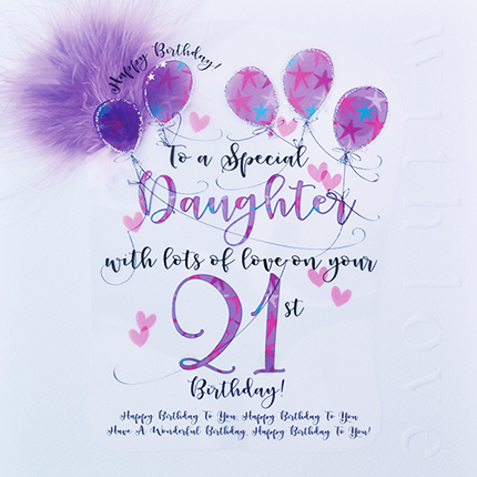 Home Store Greeting Cards Wendy Jones Blackett Daughter 21st Birthday Card CN1413
